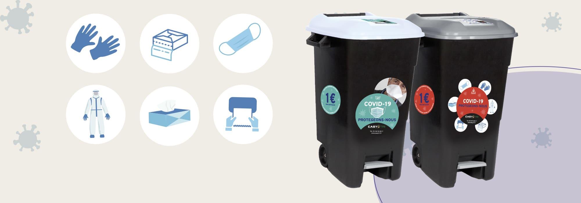 Offres spéciales protocole sanitaire Covid : gestion, tri et recyclage des masques en entreprise