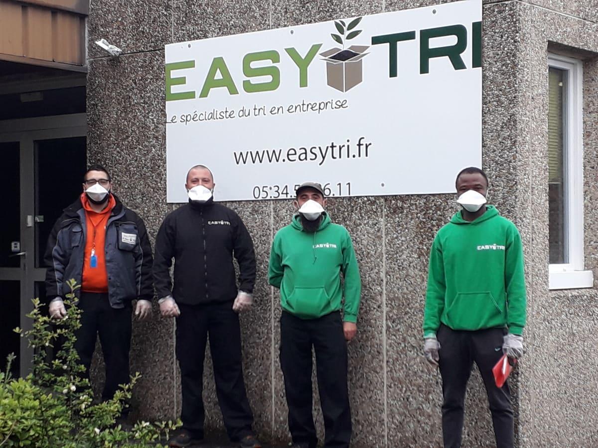 Collecte des dechets de bureau, collecte sans contact, à Toulouse par Easytri