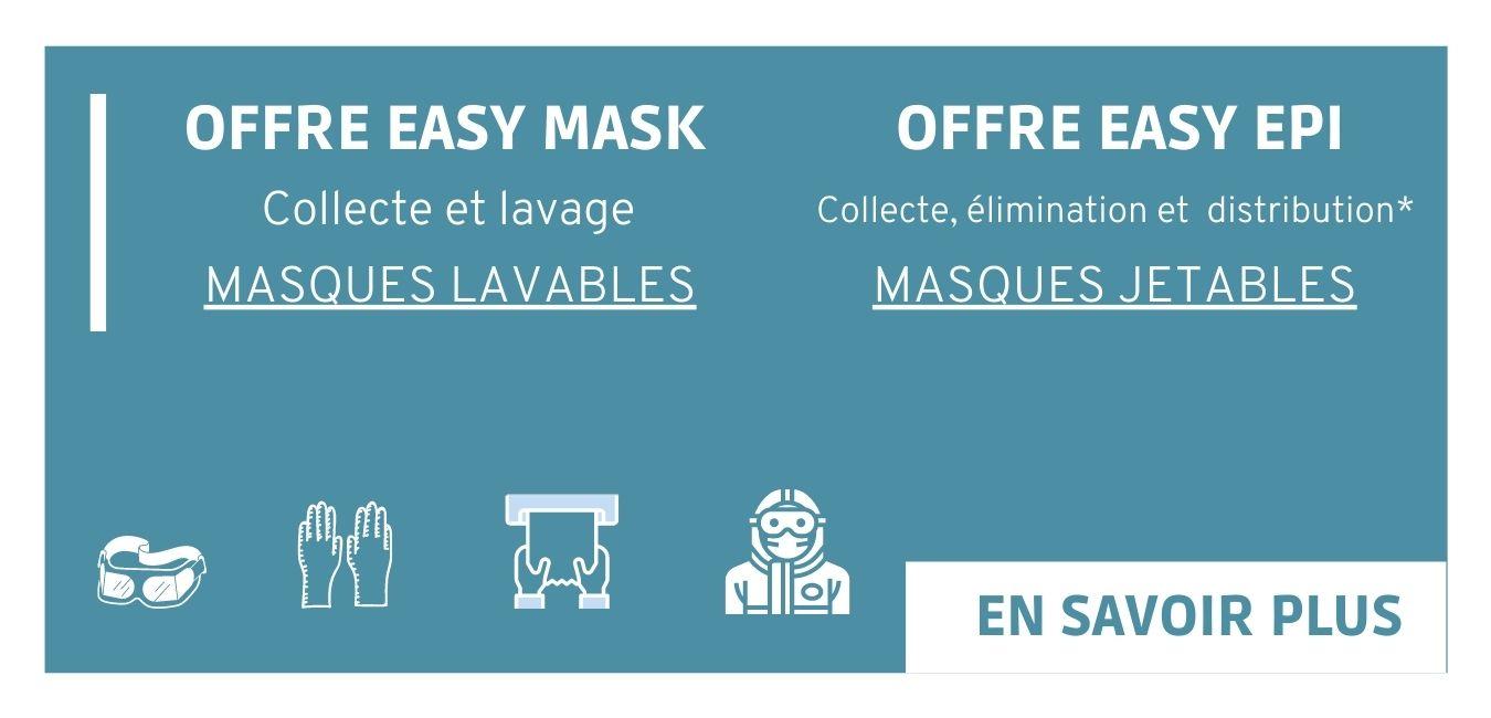 Offre pour la gestion de vos masques lavables et EPI jetables
