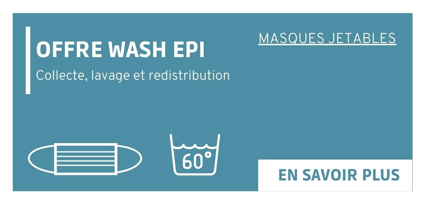 Offre pour la gestion et le lavage de vos masques jetables